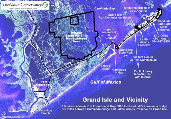 About Us Maps  Island House RV Park Grand Isle Louisiana
